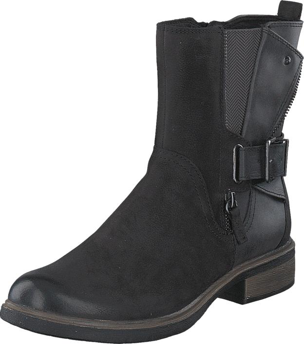 Tamaris 1-1-25413-27 070 Black/Anthracite, Kengät, Bootsit, Korkeavartiset bootsit, Musta, Naiset, 39