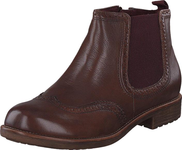 Tamaris 1-1-25421-27 377 Muscat Bordeaux, Kengät, Bootsit, Chelsea boots, Ruskea, Violetti, Naiset, 38