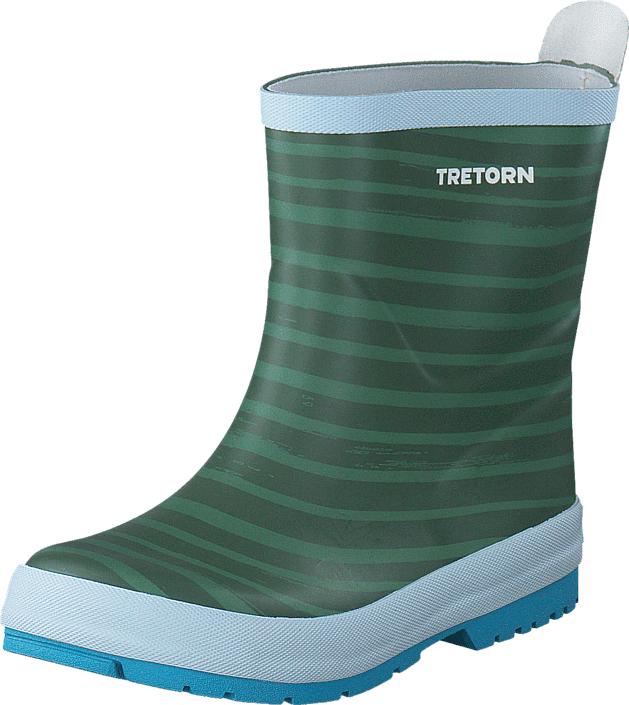 Tretorn Sticky Stripes Soft Green, Kengät, Saappaat ja saapikkaat, Kumisaappaat, Harmaa, Unisex, 26