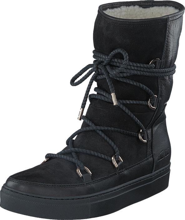 Johnny Bulls Winter Boot Black, Kengät, Bootsit, Lämminvuoriset kengät, Musta, Naiset, 36