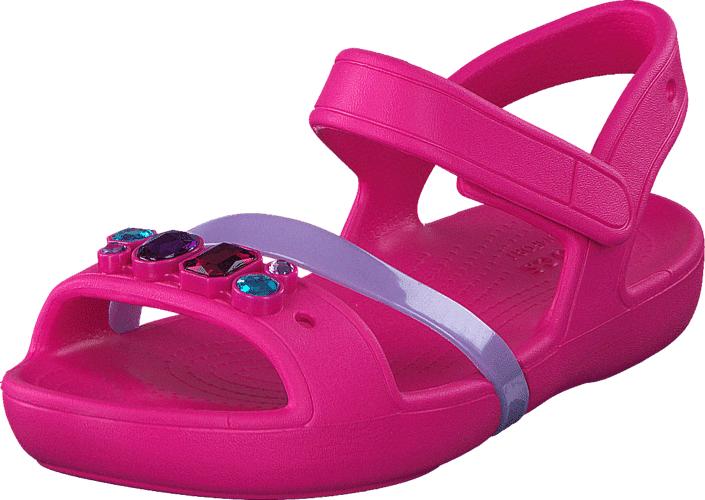 Crocs Crocs Lina Sandal K Candy Pink, Kengät, Matalapohjaiset kengät, Kävelykengät, Vaaleanpunainen, Unisex, 19