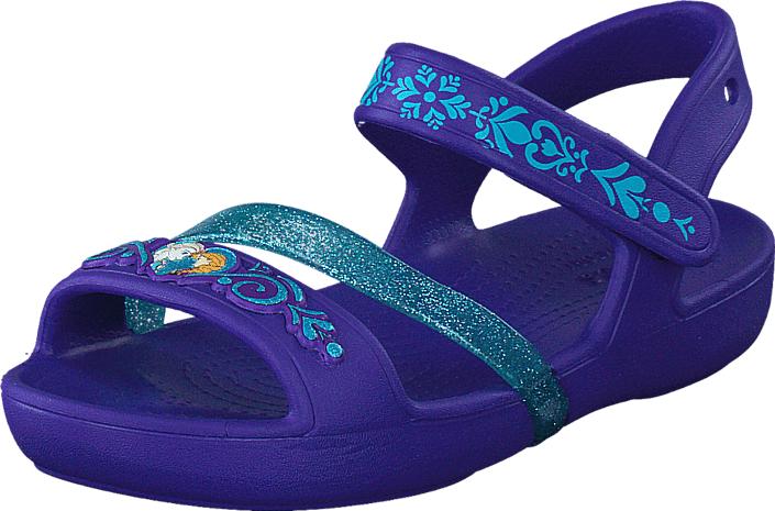 Crocs Crocs Lina Frozen Sandal K Ultraviolet, Kengät, Sandaalit ja tohvelit, Remmisandaalit, Sininen, Unisex, 19