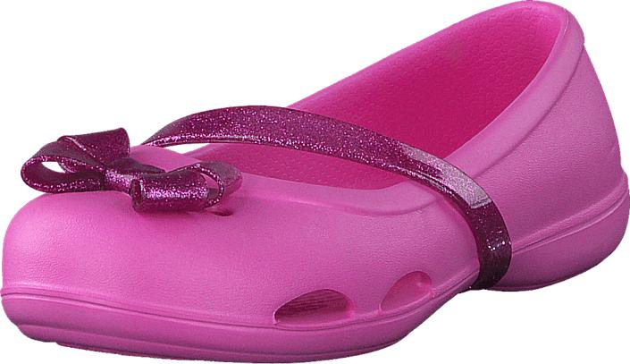 Crocs Crocs Lina Flat K Party Pink, Kengät, Matalapohjaiset kengät, Maryjane-kengät, Vaaleanpunainen, Unisex, 19