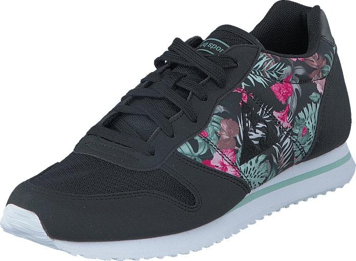 Le Coq Sportif Alice Tropical Paradise Black, Kengät, Sneakerit ja urheilukengät, Sneakerit, Musta, Naiset, 36