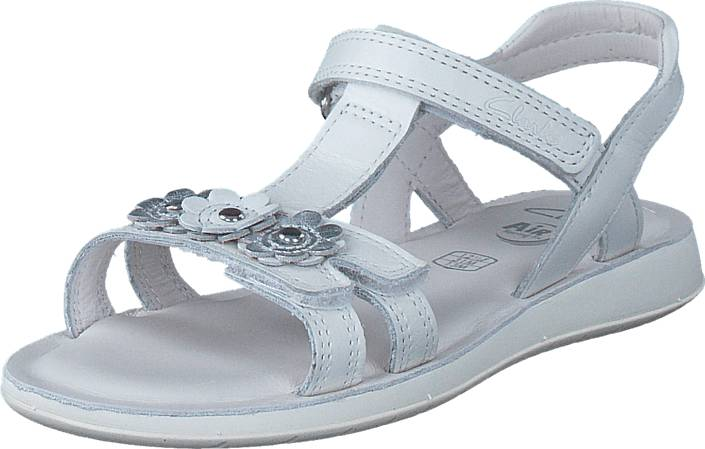 Clarks Sea Sally Inf White Leather, Kengät, Sandaalit ja tohvelit, Sporttisandaalit, , Unisex, 27