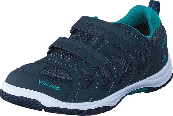 Viking Cascade Gore-Tex® Navy/Green, Kengät, Sneakerit ja urheilukengät, Tennarit , Sininen, Unisex, 21
