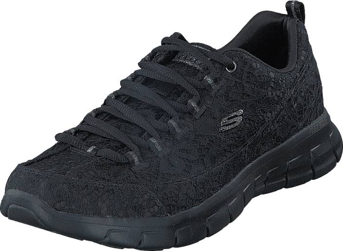 Skechers Sport - Synergy 11973 BBK, Kengät, Sneakerit ja urheilukengät, Tennarit , Musta, Naiset, 41