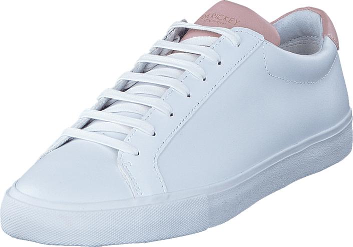 Jim Rickey Chop Womens Leather White/Pink, Kengät, Sneakerit ja urheilukengät, Varrettomat tennarit, Valkoinen, Naiset, 36