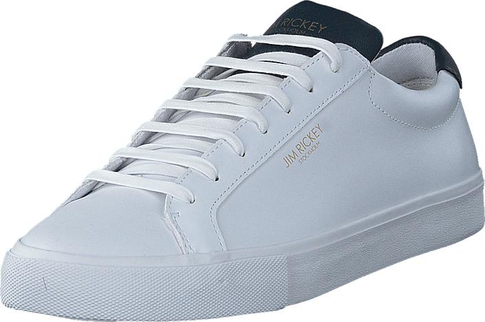 Jim Rickey Chop Leather White/Navy, Kengät, Sneakerit ja urheilukengät, Varrettomat tennarit, Valkoinen, Miehet, 45