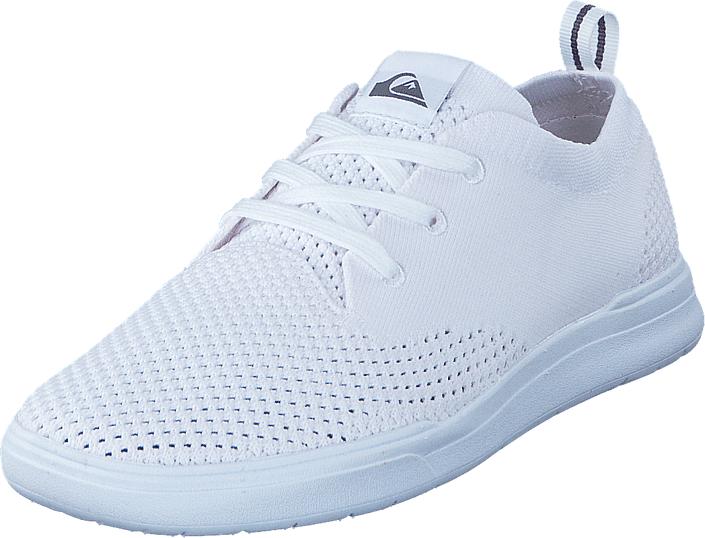 Quiksilver Shorebreak Stretch Knit White, Kengät, Sneakerit ja urheilukengät, Sneakerit, Valkoinen, Miehet, 39