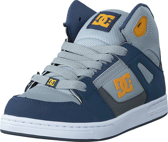 DC Shoes Rebound SE/Glow in the dark Blue/Grey/Blue, Kengät, Sneakerit ja urheilukengät, Korkeavartiset tennarit, Sininen, Unisex, 27