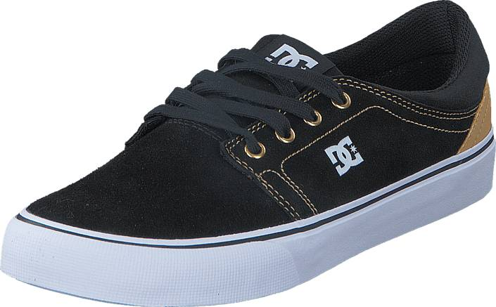 DC Shoes Dc Trase Sd Shoe Black/Camel, Kengät, Sneakerit ja urheilukengät, Varrettomat tennarit, Musta, Miehet, 40