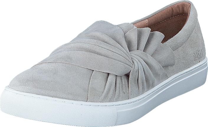 Dasia Daylily Slip-in bow Grey, Kengät, Matalapohjaiset kengät, Slip on, Harmaa, Naiset, 42