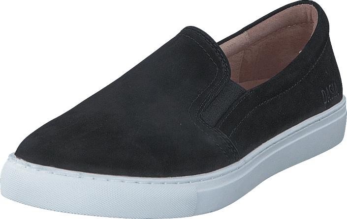 Dasia Daylily slip-in BLK, Kengät, Matalapohjaiset kengät, Kangaskengät, Musta, Naiset, 42