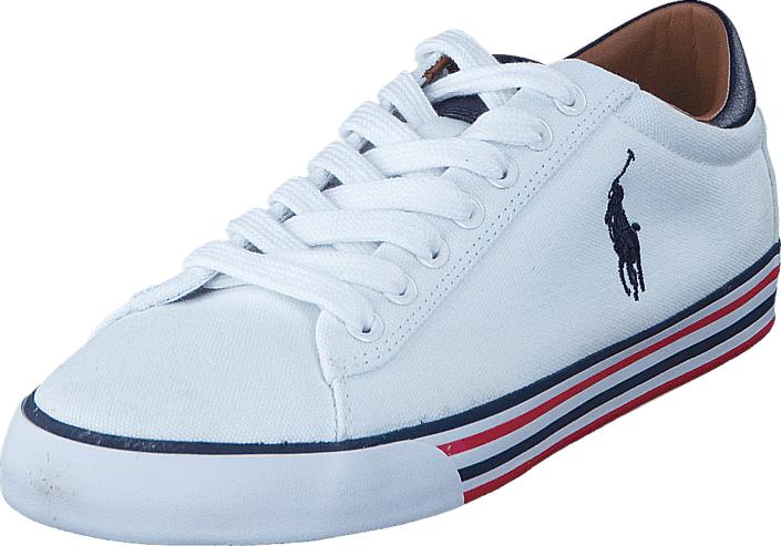 Polo Ralph Lauren Harvey Pure White / Newport Navy, Kengät, Sneakerit ja urheilukengät, Varrettomat tennarit, Valkoinen, Miehet, 40