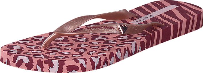 Ipanema Animal Print II 06064 Light Pink, Kengät, Sandaalit ja tohvelit, Flip Flopit, Punainen, Vaaleanpunainen, Naiset, 35