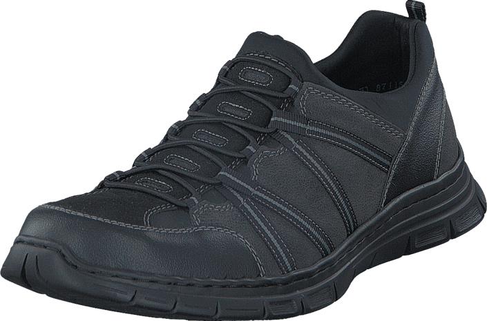 Rieker B4871-03 Black/ Granite, Kengät, Sneakerit ja urheilukengät, Urheilukengät, Harmaa, Miehet, 41
