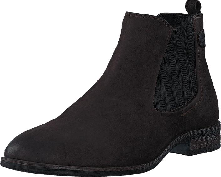 Bugatti 1914321 Dark Brown, Kengät, Bootsit, Chelsea boots, Ruskea, Violetti, Miehet, 43