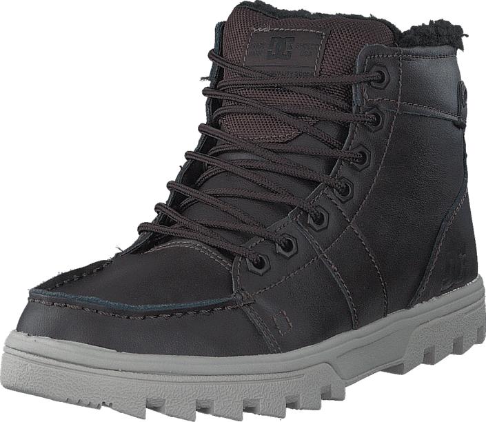 DC Shoes Woodland Brown/Tan, Kengät, Bootsit, Kengät, Harmaa, Violetti, Miehet, 40