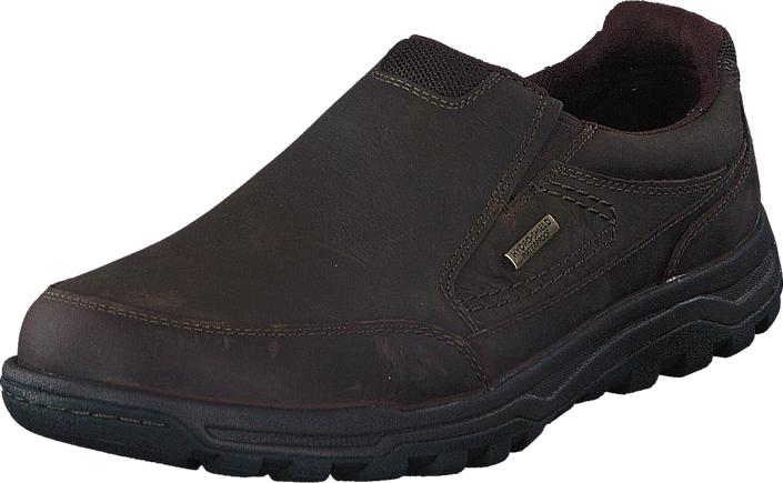 Rockport Tt Wp Slipon Dark Brown, Kengät, Matalapohjaiset kengät, Kävelykengät, Ruskea, Miehet, 42