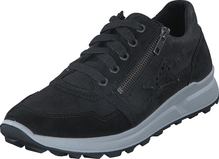Superfit Merida Black Combi, Kengät, Sneakerit ja urheilukengät, Sneakerit, Musta, Unisex, 30