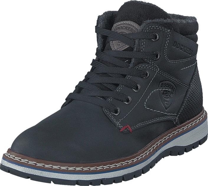 Dockers by Gerli 39CL014112100 Black, Kengät, Sneakerit ja urheilukengät, Korkeavartiset tennarit, Harmaa, Miehet, 43