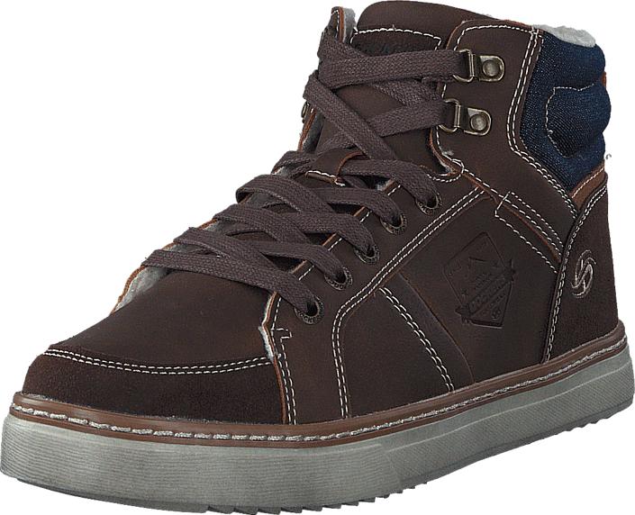 Dockers by Gerli 41MC103610391 Choko/Light Brown, Kengät, Sneakerit ja urheilukengät, Korkeavartiset tennarit, Ruskea, Miehet, 40