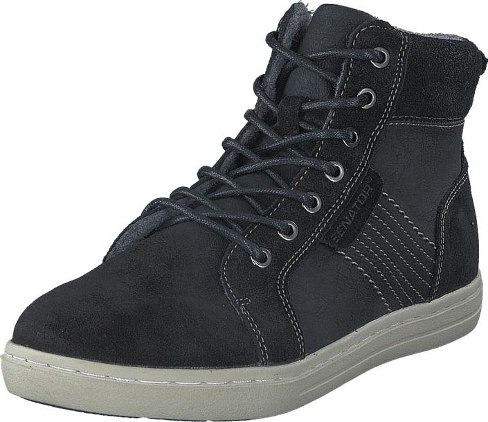 Senator 426-2670 Black, Kengät, Sneakerit ja urheilukengät, Korkeavartiset tennarit, Musta, Miehet, 44