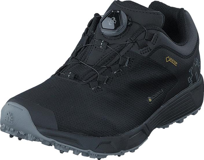Icebug DTS3 W BUGrip® GTX Carbon/Black, Kengät, Sneakerit ja urheilukengät, Tennarit , Musta, Naiset, 37