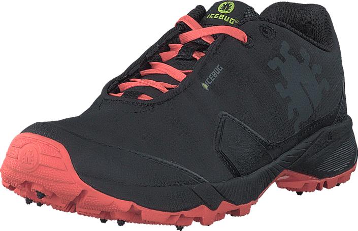 Icebug Pytho4 W BUGrip® Black/NeonPeach, Kengät, Sneakerit ja urheilukengät, Urheilukengät, Musta, Naiset, 40