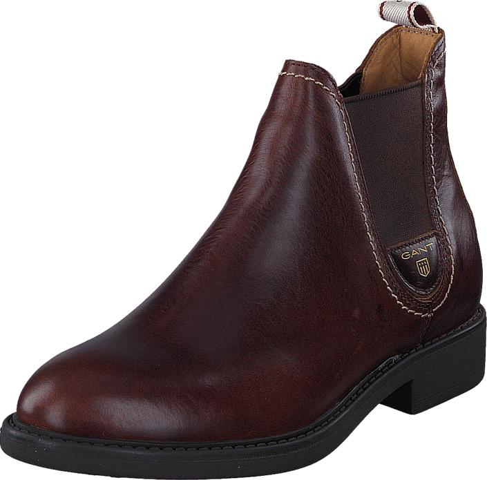 Gant Lydia G480 Sienna Brown, Kengät, Bootsit, Chelsea boots, Violetti, Ruskea, Naiset, 39