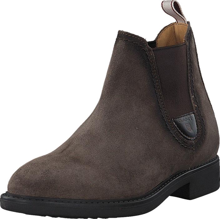 Gant Lydia G24 Taupe, Kengät, Bootsit, Chelsea boots, Ruskea, Naiset, 36