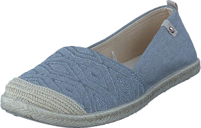 Roxy Flora II Taupe, Kengät, Matalapohjaiset kengät, Loaferit, Sininen, Harmaa, Naiset, 36
