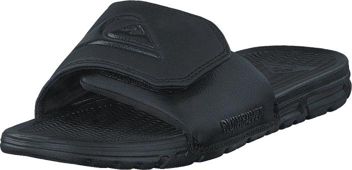 Quiksilver Shoreline Adjust Solid Black, Kengät, Sandaalit ja tohvelit, Flip Flopit, Musta, Miehet, 40