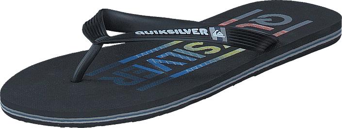 Quiksilver Molokai Wordmark Black/Red/Blue, Kengät, Sandaalit ja tohvelit, Flip Flopit, Musta, Miehet, 40