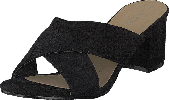 Duffy 97-00422 Black, Kengät, Korkokengät, Matalakorkoiset Sandaletit, Musta, Naiset, 40