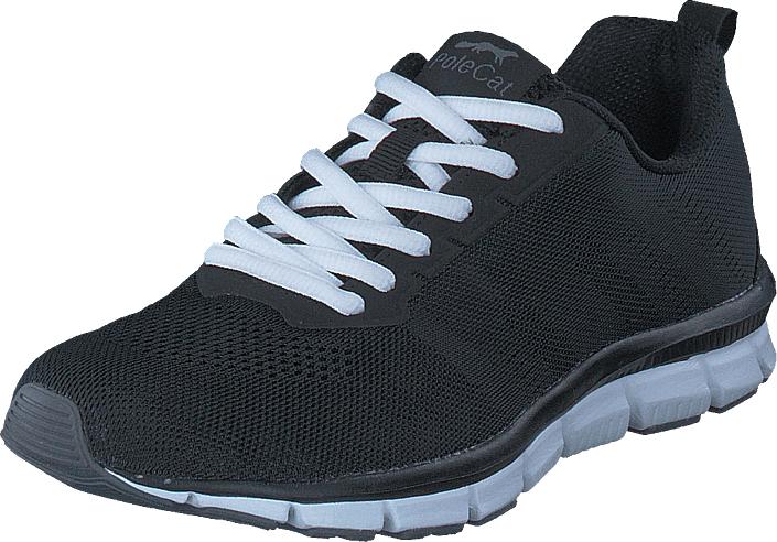 Polecat 435-0201 Black/White, Kengät, Sneakerit ja urheilukengät, Sneakerit, Musta, Unisex, 43