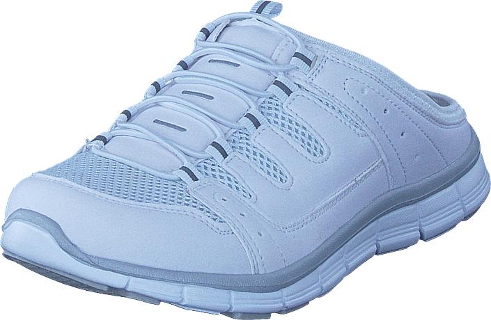 Polecat 435-1309 Comfort Sock White, Kengät, Sandaalit ja tohvelit, Tohvelit, Valkoinen, Naiset, 37