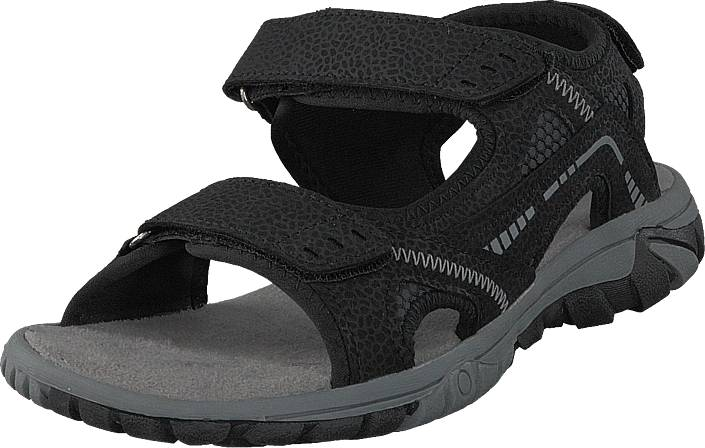 Polecat 413-4621 Black, Kengät, Sandaalit ja tohvelit, Sporttisandaalit, Musta, Unisex, 45