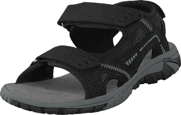 Polecat 413-4621 Black, Kengät, Sandaalit ja tohvelit, Sporttisandaalit, Musta, Unisex, 46