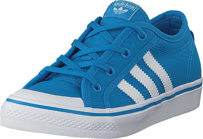 adidas Originals Nizza C Bright Blue/Ftwr White, Kengät, Sneakerit ja urheilukengät, Varrettomat tennarit, Turkoosi, Sininen, Unisex, 35