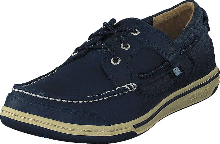 Sebago Triton Three Eye Navy Leather, Kengät, Matalapohjaiset kengät, Kävelykengät, Sininen, Violetti, Miehet, 43