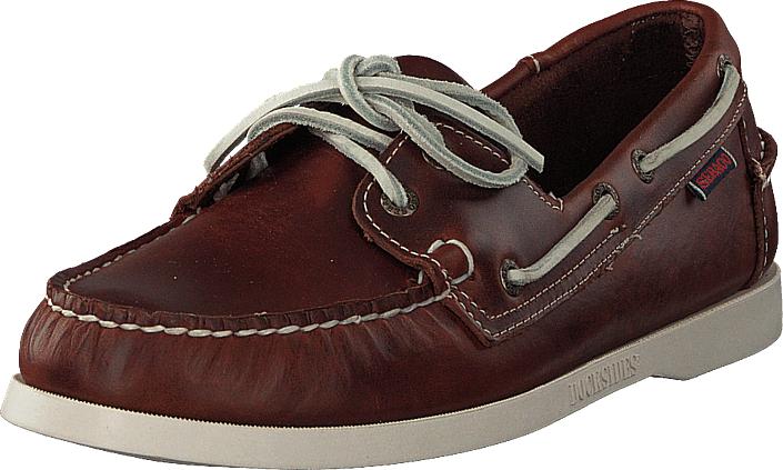 Sebago Docksides Brown Oiled Waxy Lea, Kengät, Matalapohjaiset kengät, Purjehduskengät, Ruskea, Miehet, 43