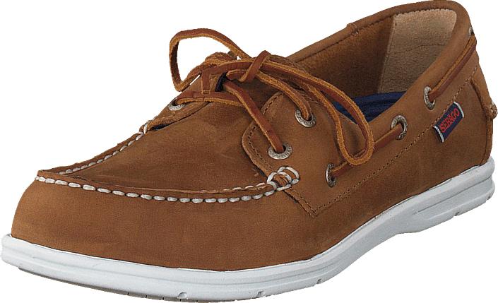 Sebago Litesides Two Eye Med Brown Leather, Kengät, Matalapohjaiset kengät, Purjehduskengät, Ruskea, Naiset, 41