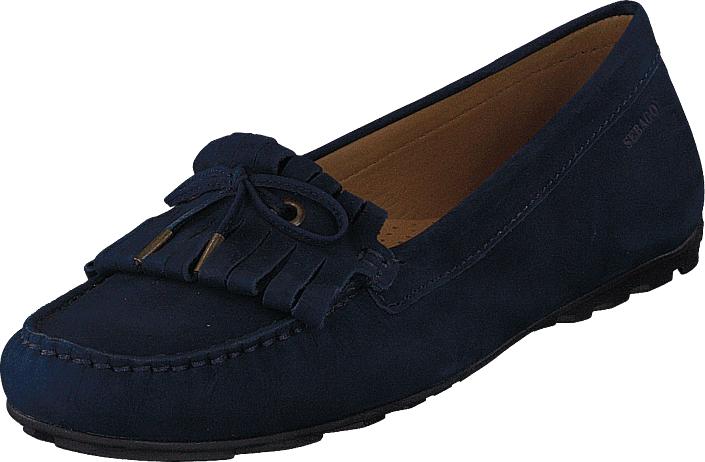 Sebago Harper Kiltie Tie Navy Nubuck, Kengät, Matalapohjaiset kengät, Loaferit, Sininen, Naiset, 37