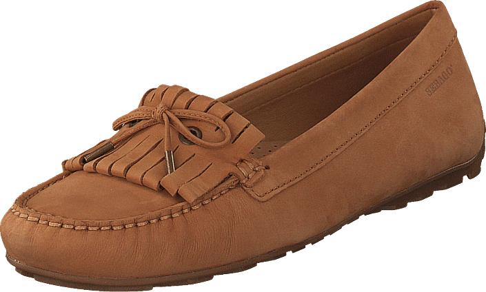 Sebago Harper Kiltie Tie Tan Nubuck, Kengät, Matalapohjaiset kengät, Loaferit, Punainen, Naiset, 37