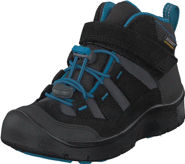 Keen Hikeport Mid Wp Black/blue Jewel, Kengät, Sneakerit ja urheilukengät, Korkeavartiset tennarit, Musta, Unisex, 31