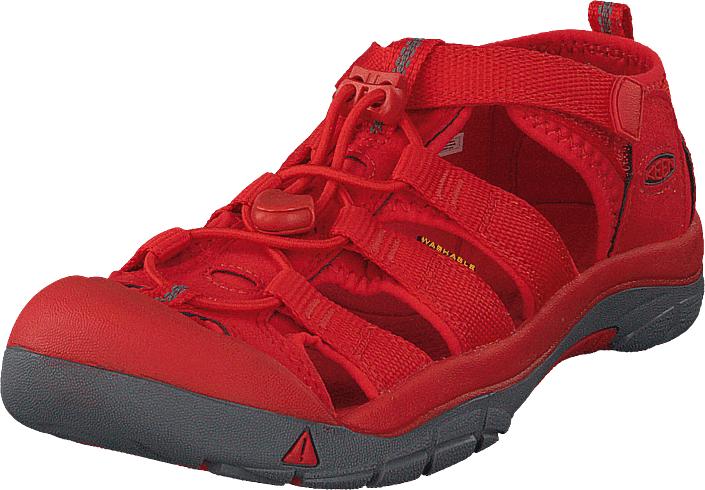 Keen Newport H2 Jr Firey Red, Kengät, Sandaalit ja tohvelit, Sporttisandaalit, Punainen, Unisex, 37