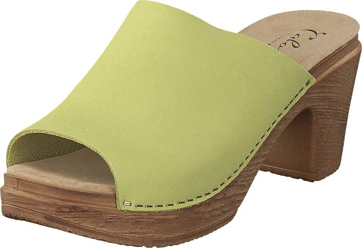 Calou Frida Soft Lime, Kengät, Korkokengät, Matalakorkoiset sandaalit, Ruskea, Vihreä, Naiset, 38