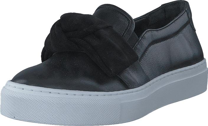 Billi Bi 104 Black Nappa Suede, Kengät, Matalapohjaiset kengät, Slip on, Harmaa, Naiset, 36